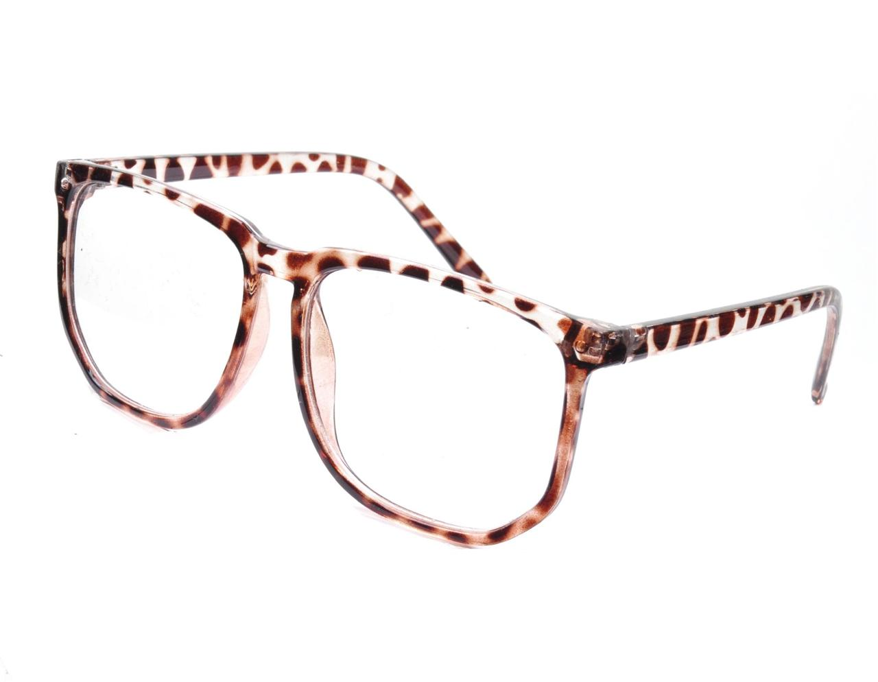Big Black Frame Nerd Glasses : VTG 70s 80s Style Clear Lens Tortoiseshell BIG Frame Geek ...