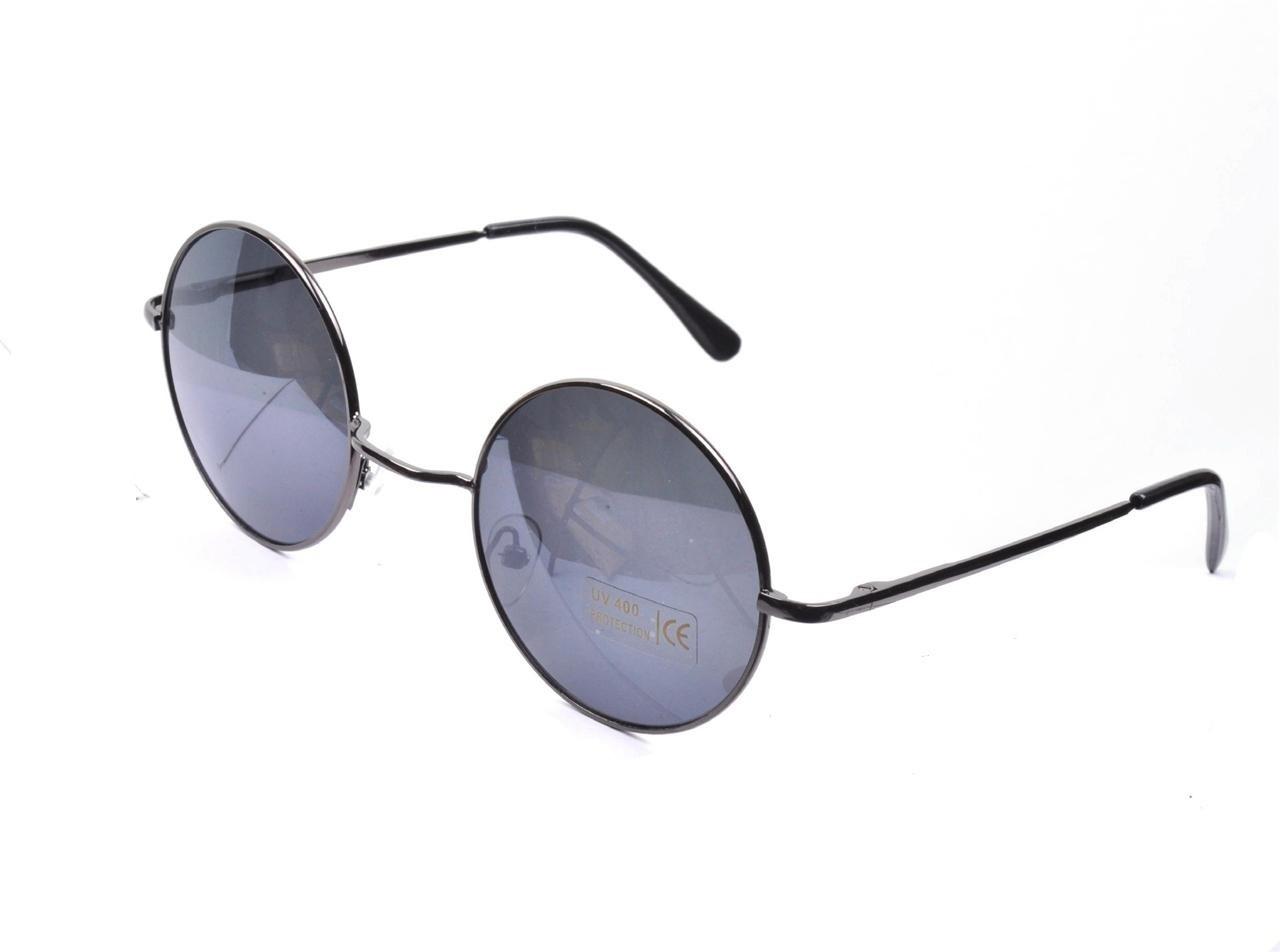 Goggles Sunglasses  vtg style black round lens 90s steampunk glasses sunglasses