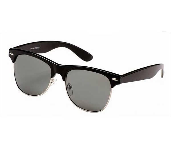 Retro-1980s-Clubmaster-Sunglasses-VTG-Black-Brown-Glasses-NEW-UV400-Unisex