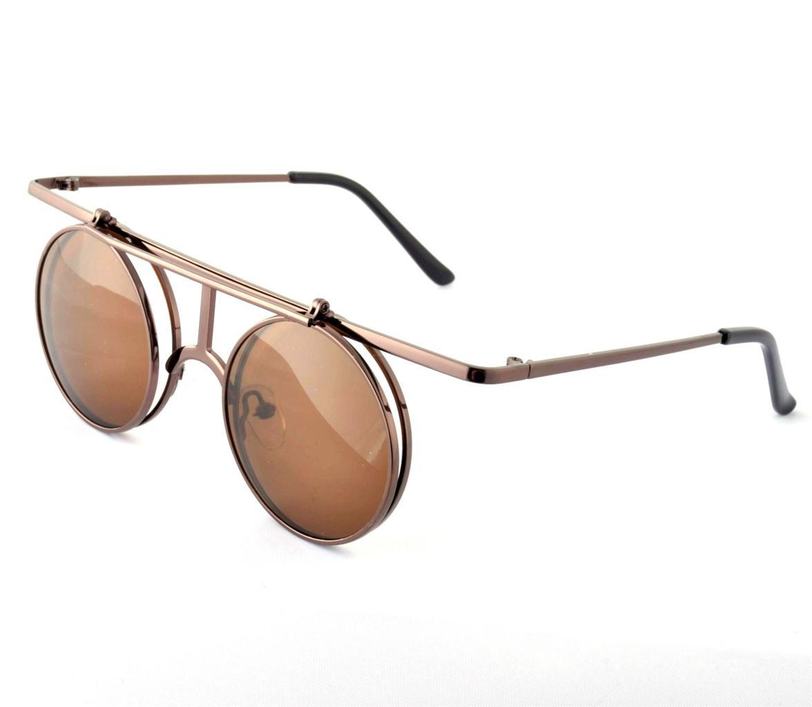 808671d464c VTG 30s Style Flip Up Round Sunglasses NEW Retro Steampunk .