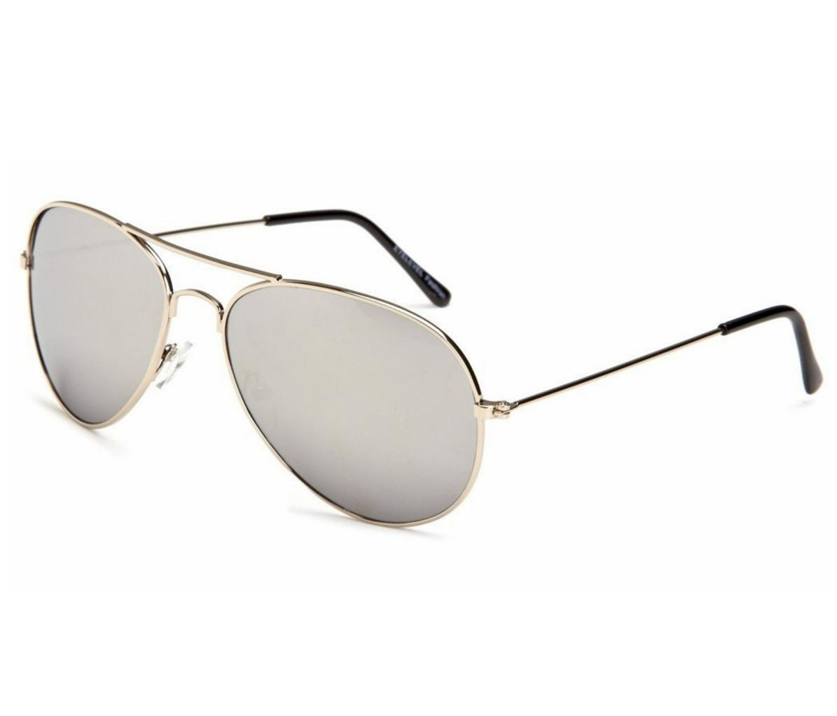 silver aviator glasses tlw5  Image is loading RETRO-80-039-s-Style-Mirrored-Silver-Aviator