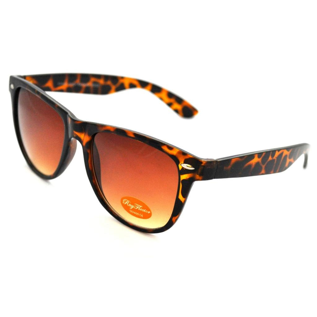 VINTAGE-Tortoiseshell-Brown-Wayfarer-Sunglasses-NEW-BNWT-Retro-80s-Style