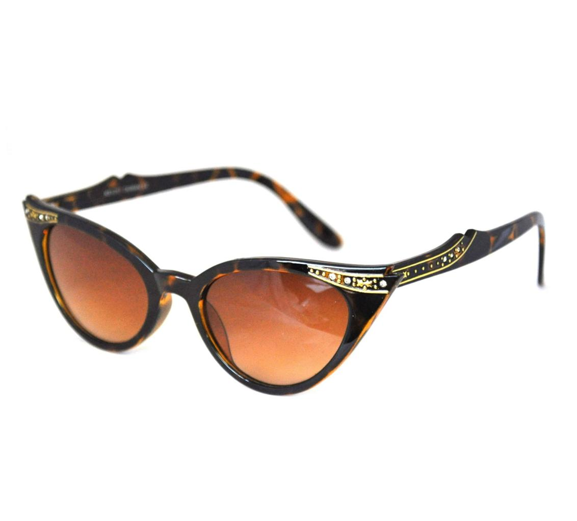 Retro 50s/60s Style Cats Eye Diamante Sunglasses ...