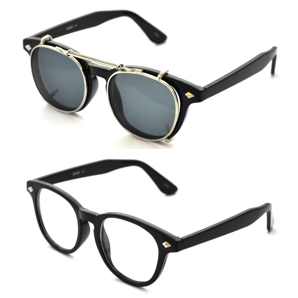 Vtg 50 s style removable lens black wayfarer sunglasses retro glasses