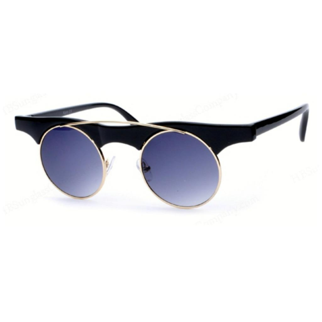 Wire Frame Glasses In Style : VTG Style Round Sunglasses Rimless Wire Metal Frame ...