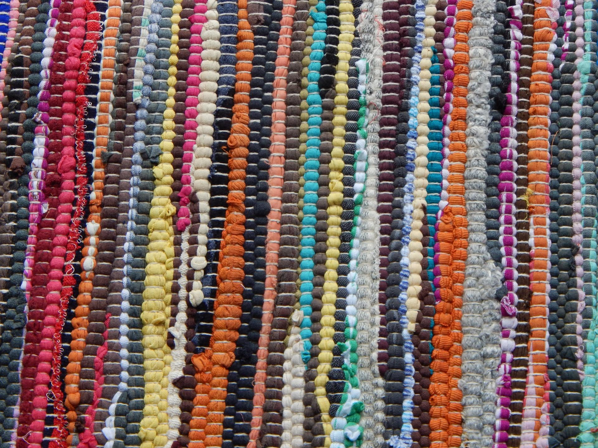 Cotton Rag Rug Runner Multi Coloured Fair Trade India