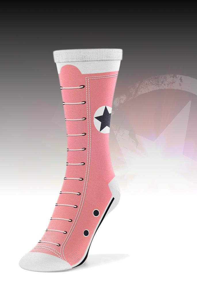 Baby Pink and White Converse Cotton Socks Style Fun