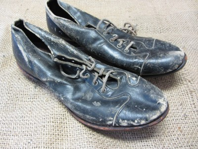 vintage leather baseball shoes gt antique football