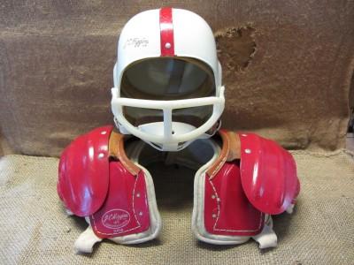 Roebuck Co Leather Football Helmet Pad Set Antique Old 7494
