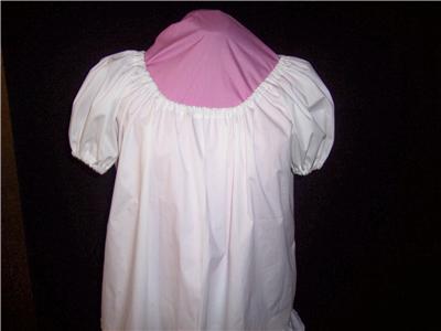 White Short Sleeve Peasant Blouse 16