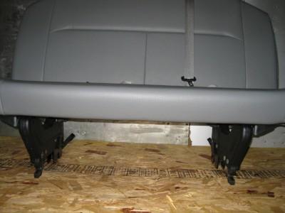 08 12 Ford Econoline Van 2nd Row 3 Passenger Gray Vinyl Bench Seat