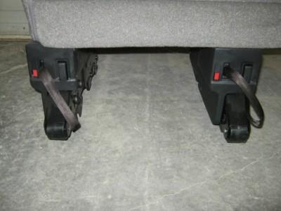 2012 2013 Nissan NV Van 2nd 3rd 4th Row 2 LH Passenger Gray Cloth Bench Seat