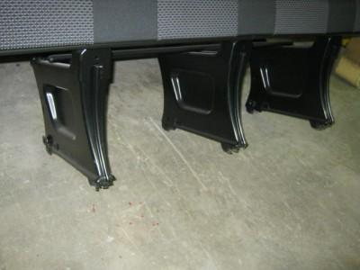 New 08 12 Mercedes Dodge Sprinter 4 Passenger Black Cloth Bench Seat
