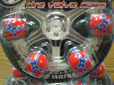 4 Rebel Flag Confederate Flag Valve Stem Caps Covers Car
