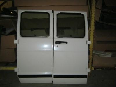 94 02 Dodge RAM Van OE RH LH White Side Cargo Van Doors with Glass