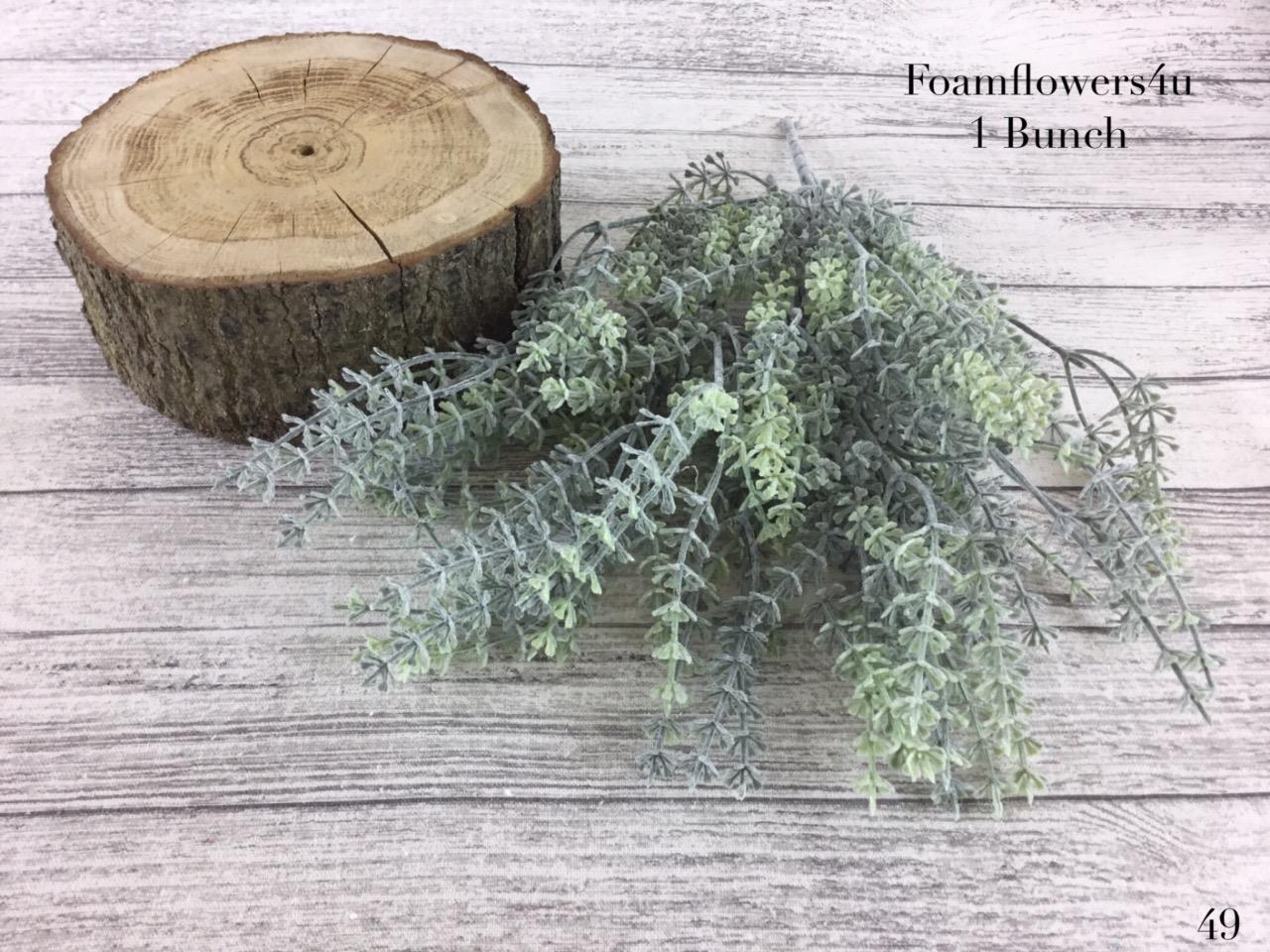 28cm-Frosted-Thyme-Bunch-Greenery-Foliage-Bunch-Wedding-Bouquet
