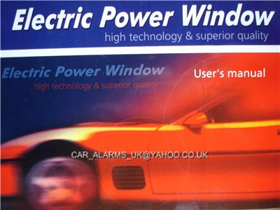Car Van Universal Electric Power Window Conversion Kit Ebay