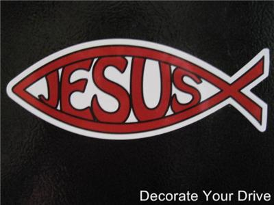 Car magnet red christian jesus fish symbol ebay for Fish symbol on cars