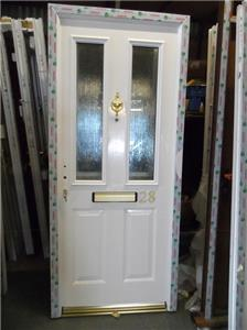 New white composite front door set upvc frame 2060 x 900 for New upvc door and frame