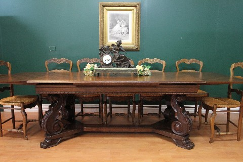 Antique french oak parquetry top 10 12 seat extension for 12 seater dining table sydney