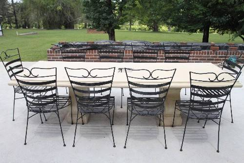 Large outdoor patio garden verandah dining bbq table seats for 12 seat outdoor dining table
