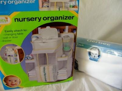 Baby nursery hanging diaper organizer storage plus ebay for Nursery hanging storage