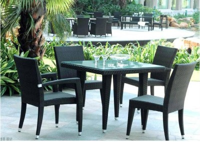 Rattan Wicker Patio Furniture on Rattan Wicker 5pc Outdoor Patio Furniture Dining Set   Ebay
