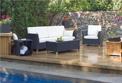 Patio Furniture Free Shipping on Rattan Deep Seating Patio Furniture Set W Cushions New   Ebay