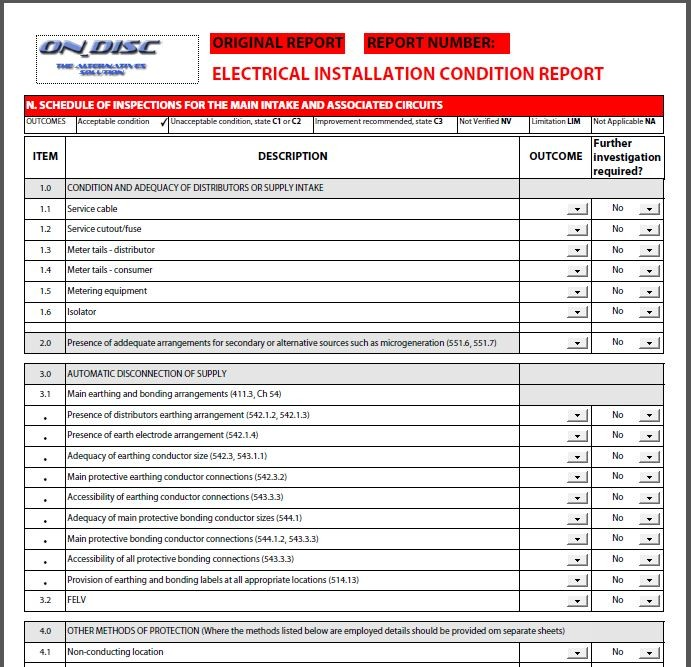 Electrical testing certificates 17th edition test certs for Pat testing template free