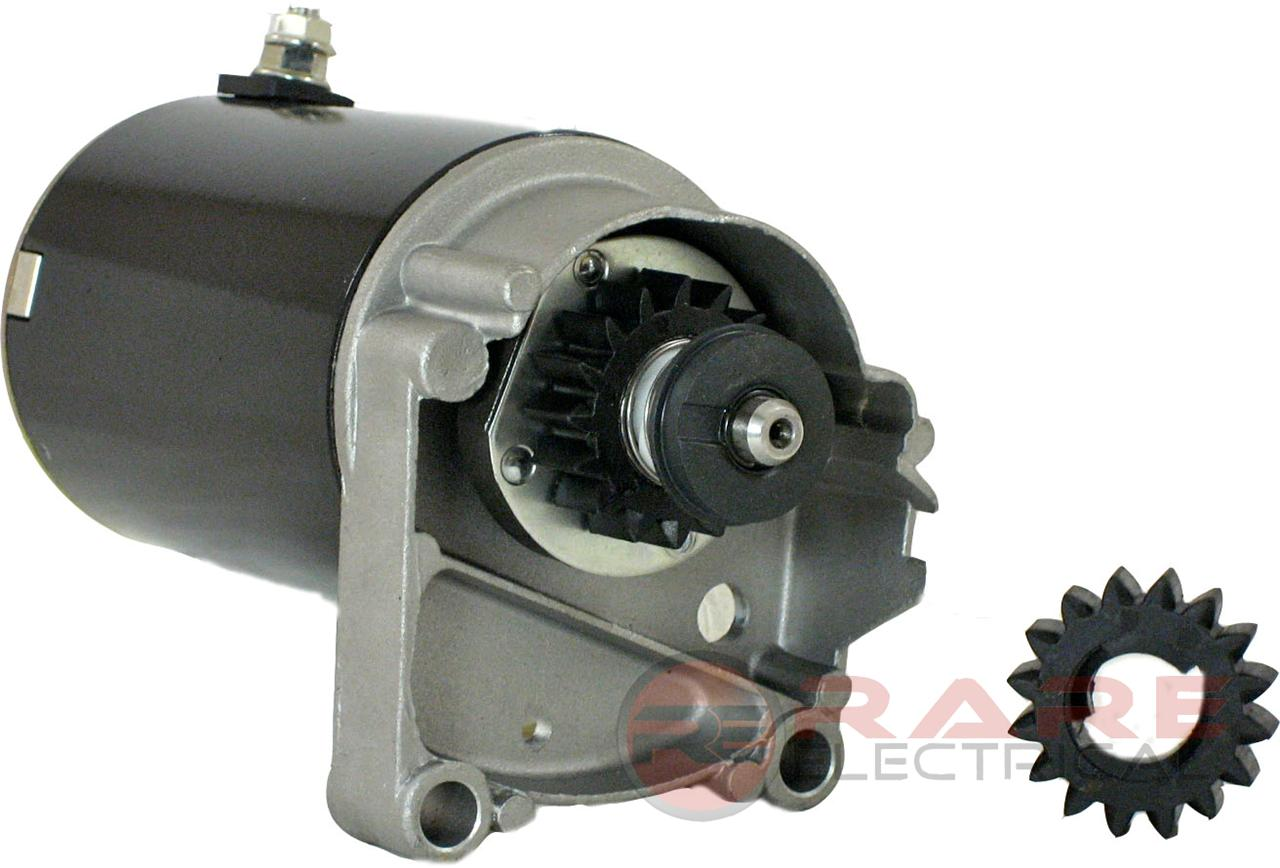 Rareelectrical STARTER BRIGGS STRATTON 14 16 18 HORIZONTAL MOUNT HP 497596 WITH FREE GEAR at Sears.com