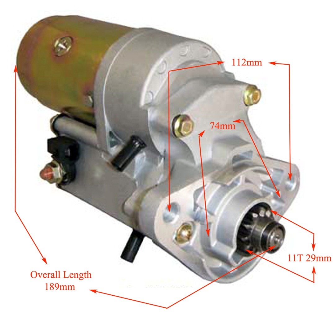 New Airboat Starter Motor Continental Lycoming 11t 2 0kw