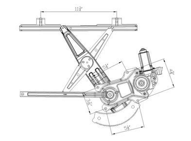 New front left window regulator saturn 04 07 ion 03 07 ion for Saturn window motor replacement