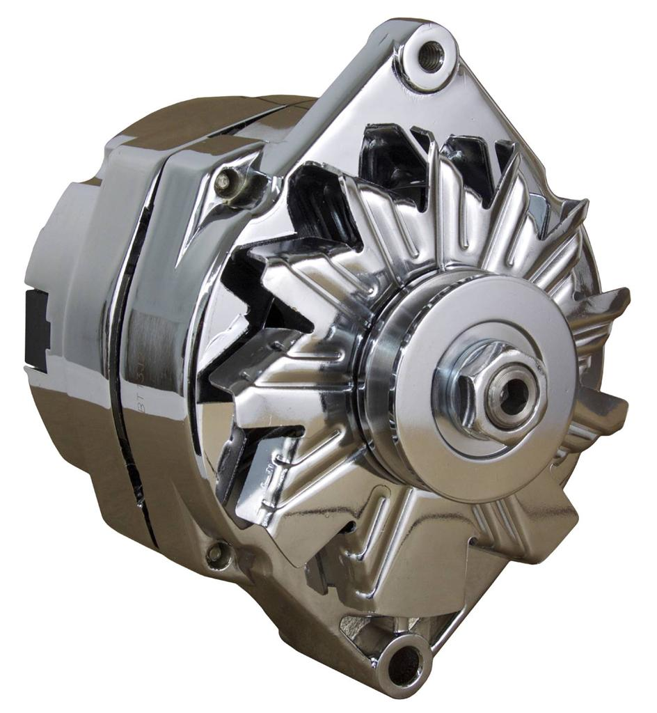 new chrome sbc chevy alternator 110 amp 1 wire ho self exciting energizing ebay