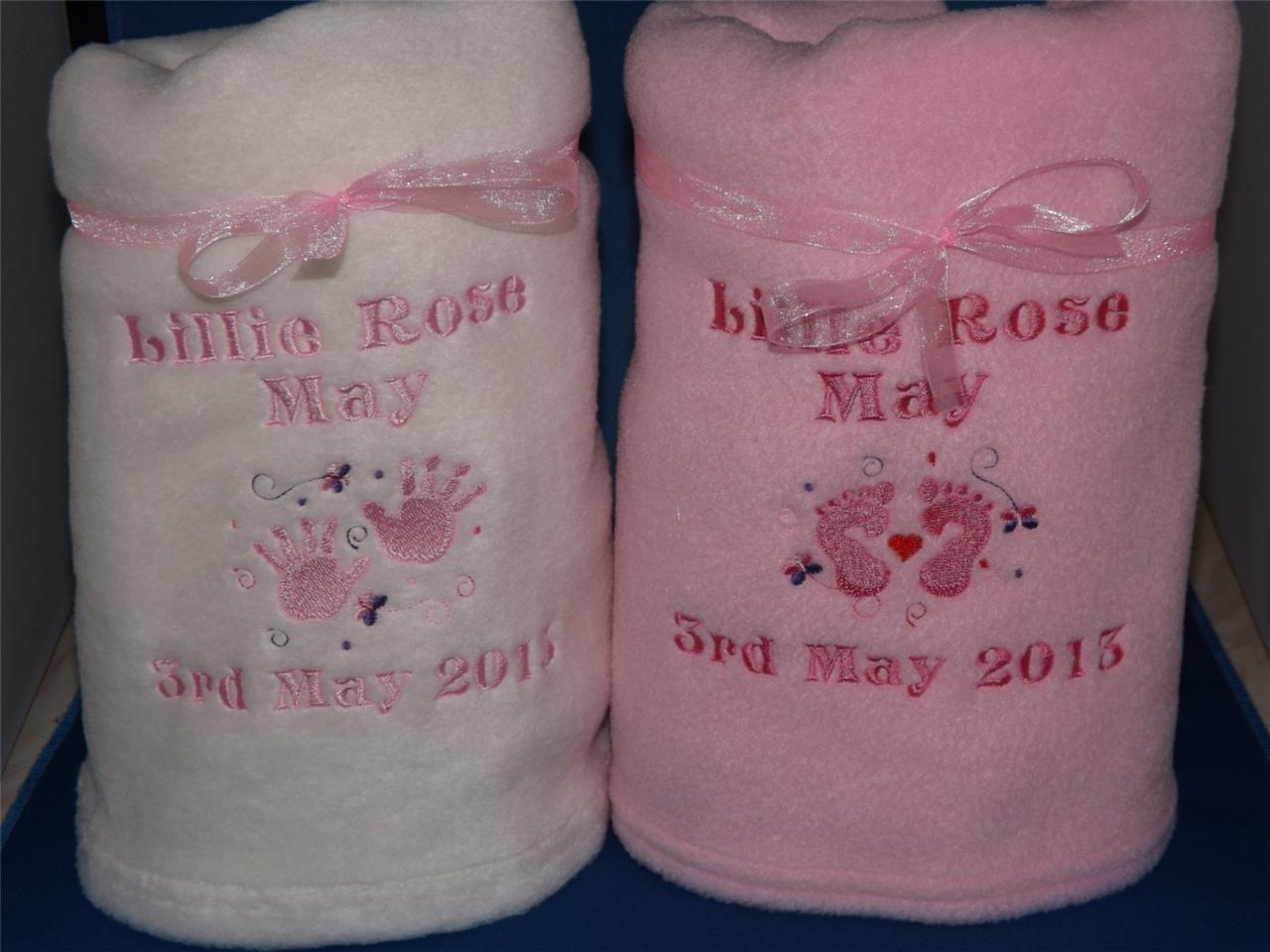 PERSONALISED-BABY-BLANKET-HANDPRINTS-FOOTPRINTS-GIFT-HIGH-QUALITY-FAST-DELIVERY