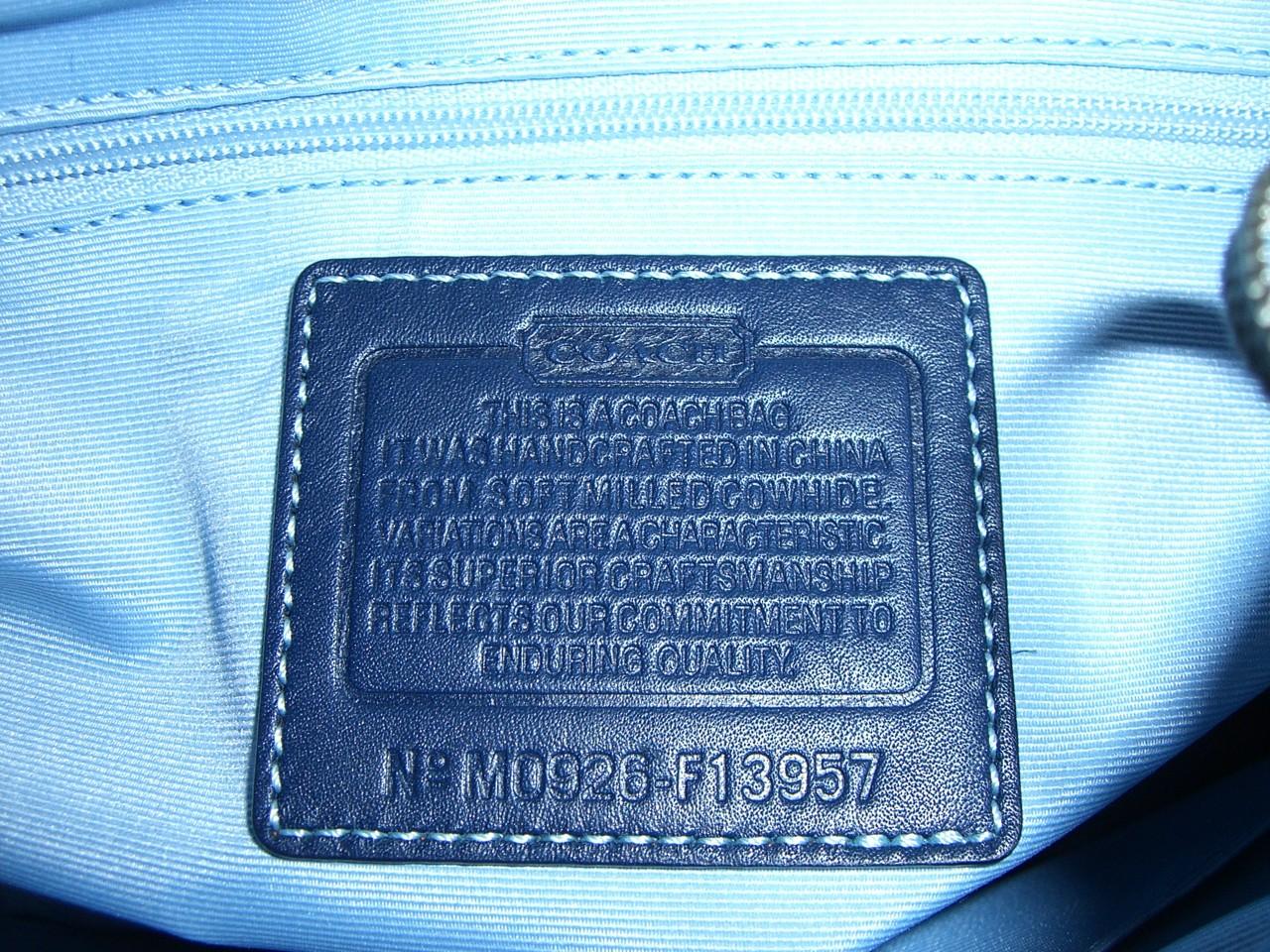 coach 蓝色包包