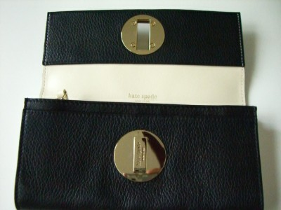 Kate Spade Cyndy Bexley Black Leather Wallet $195