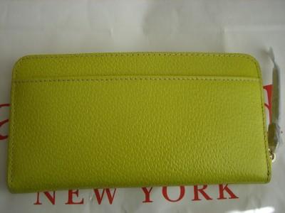 Kate Spade WELLESLEY NEDA Yellow Leather Wallet $195