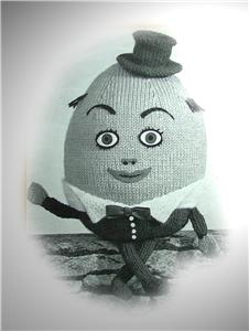 Knitting Pattern For Humpty Dumpty : Vintage HUMPTY DUMPTY knitting pattern c1940s eBay