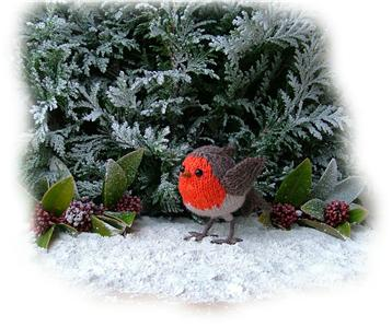 ROBIN REDBREAST toy knitting pattern by GEORGINA MANVELL (Christmas) eBay