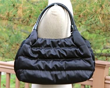 KATE SPADE Alpine Hills Black Nylon STEVIE SATCHEL TOTE Shoulder BAG