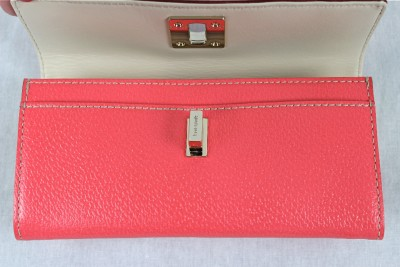 NIB KATE SPADE TARRYTOWN APPLE BLOSSOM CYNDY TURNLOCK LEATHER PINK