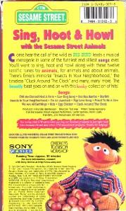 Sesame Street Sing Hoot And Howl Vhs Sesame Street - Sing, ...