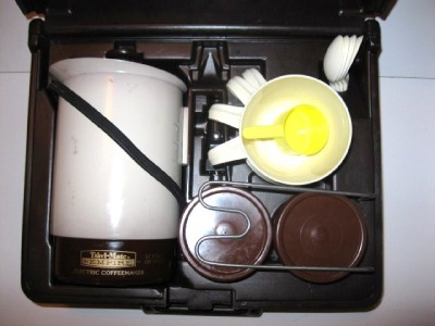 VINTAGE Empire KAR N HOME Coffee maker travel kit WORKS GREAT
