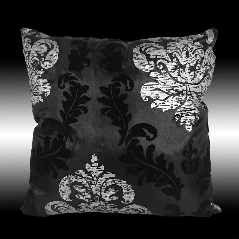 The cushion could for example be complimented with some plain silver and black cushions. Alternatively you could choose some cushions of different .