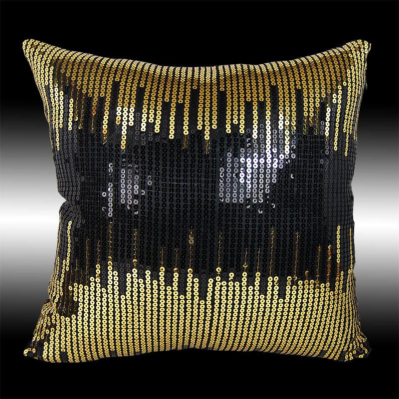 2 SHINY ABSTRACT SEQUINS TAFFETA DECORATIVE THROW PILLOW CASES CUSHION COVERS 16