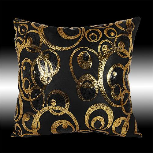 Decorative Pillows With Sequins : 2 SHINY ABSTRACT SEQUINS TAFFETA DECORATIVE THROW PILLOW CASES CUSHION COVERS 16 eBay
