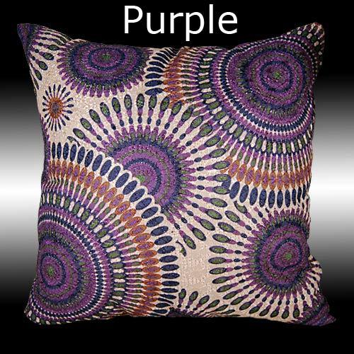2 SPECIAL EMBOIDERY COLORFUL LINEN COTTON THROW PILLOW CASES CUSHION COVERS 16""