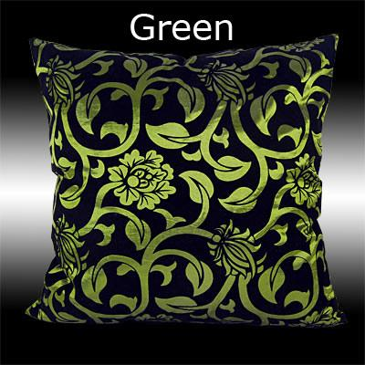 "2 BLACK FLOCK THROW PILLOW CASE CUSHION COVERS 17"" 9 COLOURS"