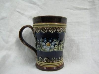 Royal Doulton Lambeth Majolica Mug 1800s