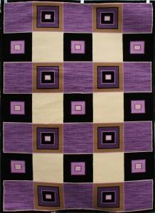 Purple Cream Black 8x11 Area Rugs Beige Carpet Abstract